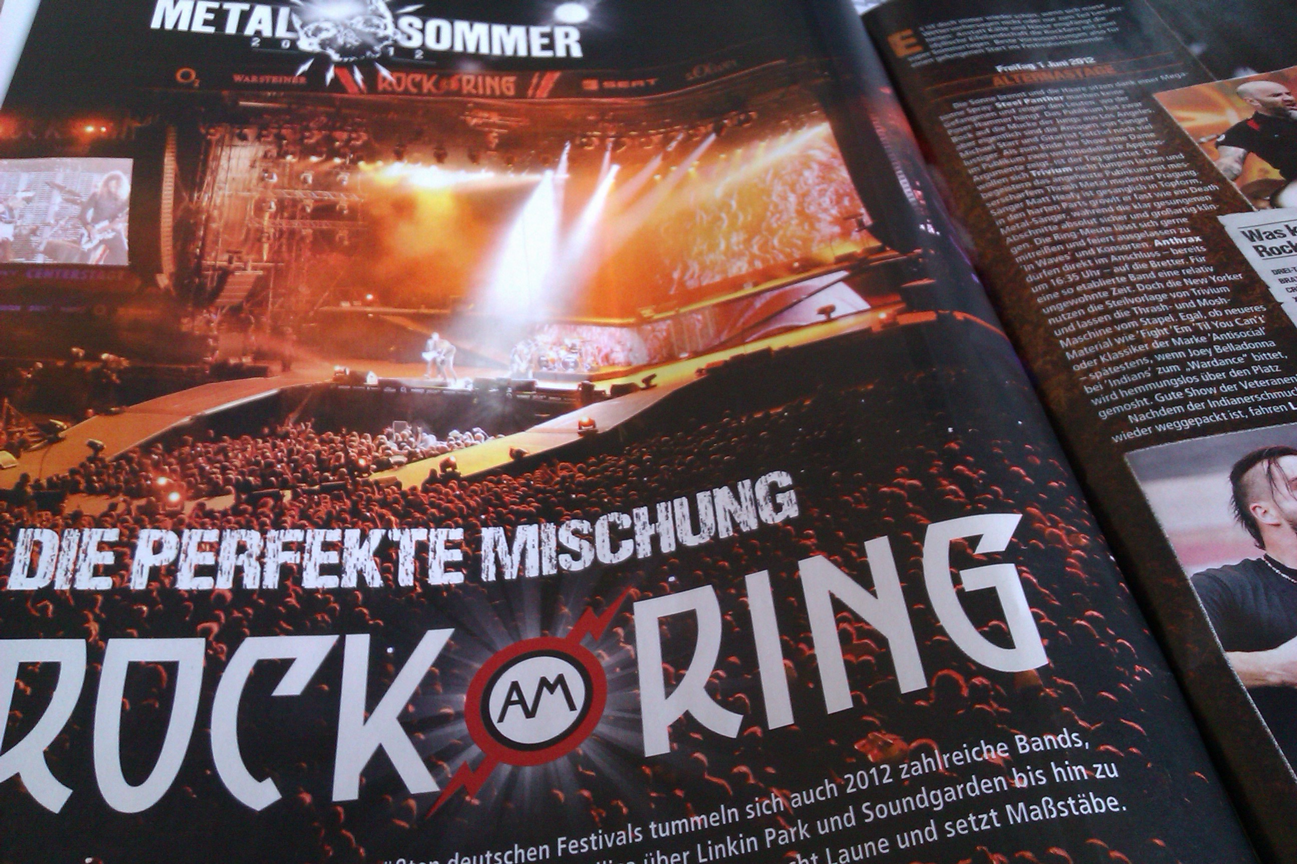Rock am Ring in METAL HAMMER-Ausgabe 08/2012