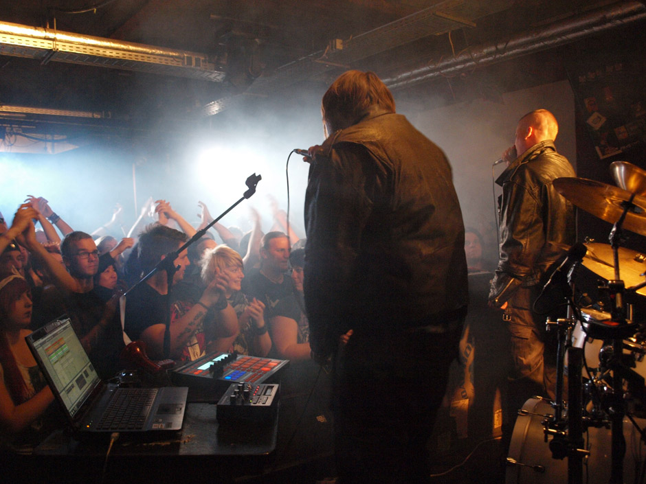 Callejon Backstage auf der Tour im Juni 2012