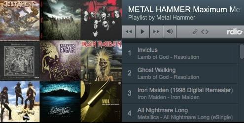 METAL HAMMER Maximum Metal auf Rdio