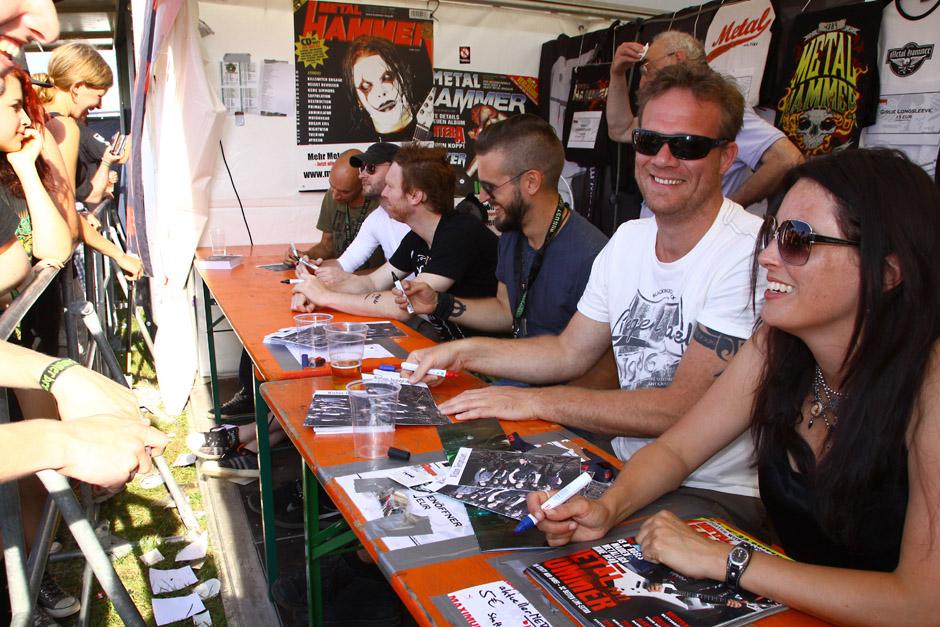 Summer Breeze 2012: Spaß und Autogrammstunden am MH-Stand