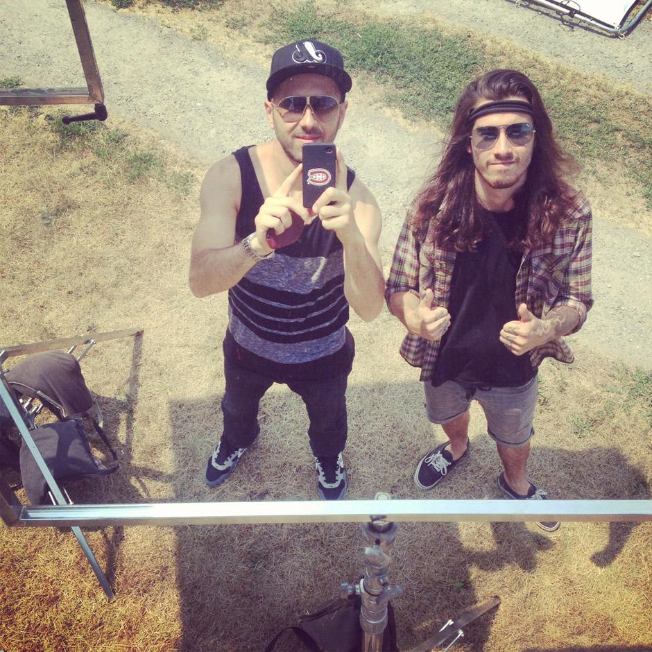 Backstage auf der Never Say Die!-Tour 2012 mit Obey The Brave