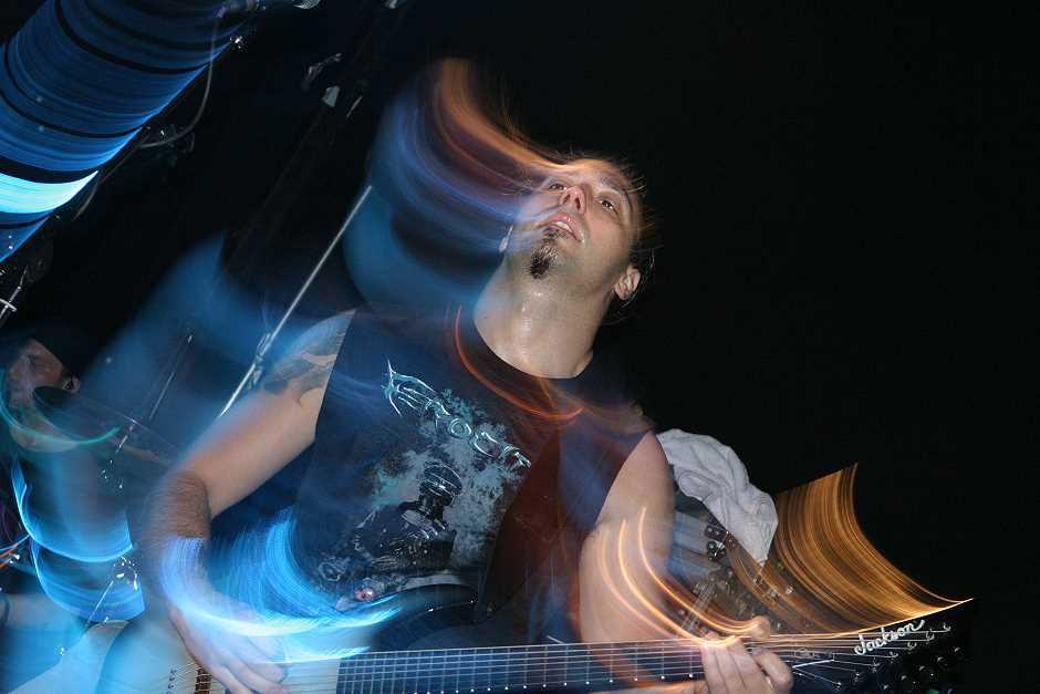 Mnemic live, 8.10.2012, München, Backstage