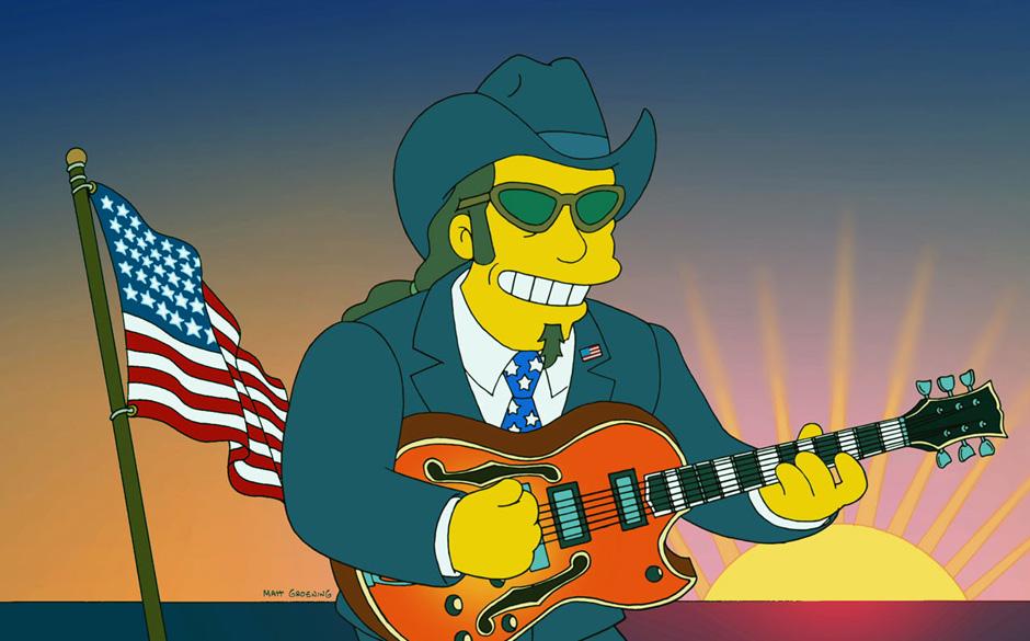 Ted Nugent als Simpsons-Charakter.