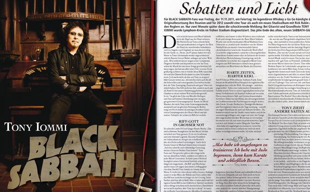 Black Sabbath / Tony Iommi Titelgeschichte März 2012