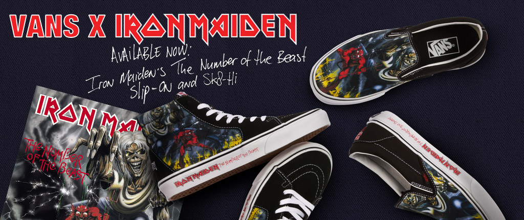 Iron Maiden THE NUMBER OF THE BEAST Vans