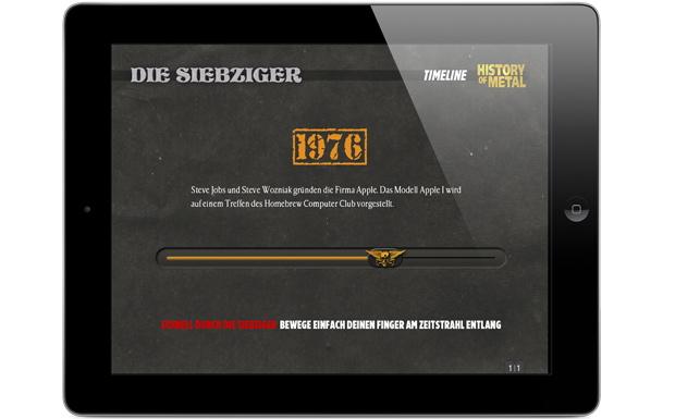 Eindrücke aus der METAL HAMMER iPad-App 'History of Metal'
