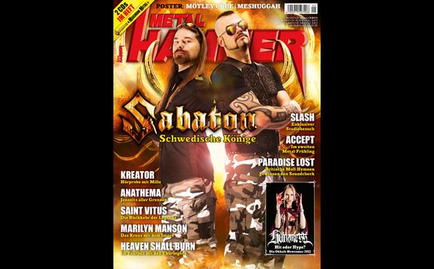 Sabaton auf dem Titel von METAL HAMMER Mai 2012