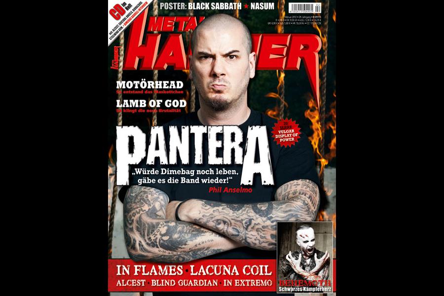 Pantera auf dem METAL HAMMER Cover 02 / 2012