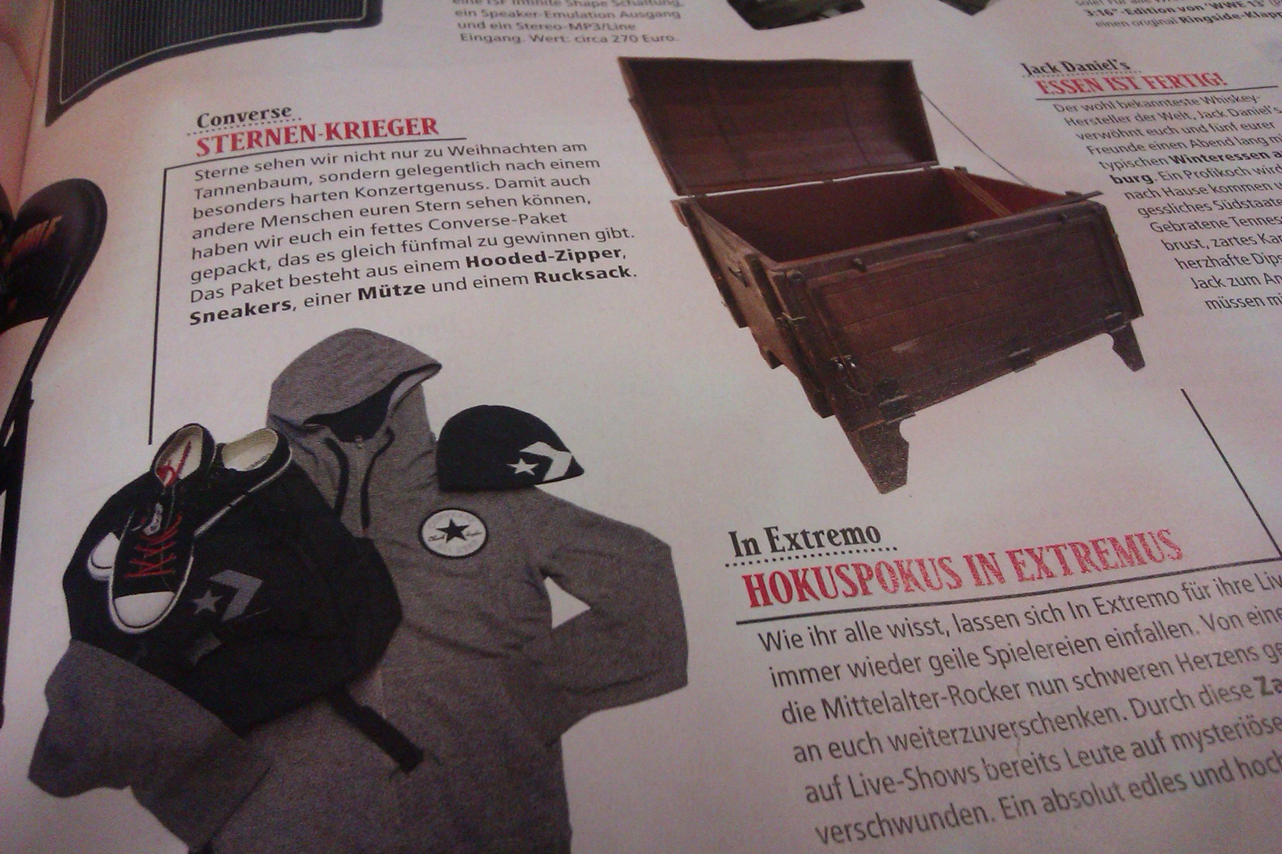 METAL HAMMER Weihnachtsverlosung in der Ausgabe 01/2013