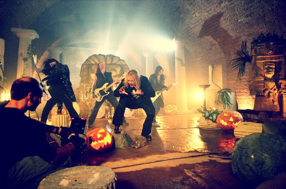 Making-Of zum Helloween-Video 'Nabataea'