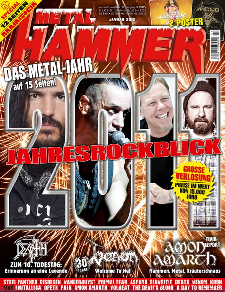 METAL HAMMER Cover Januar 2012