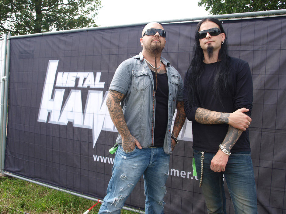 Dimmu Borgir backstage auf dem Wacken Open Air 2012