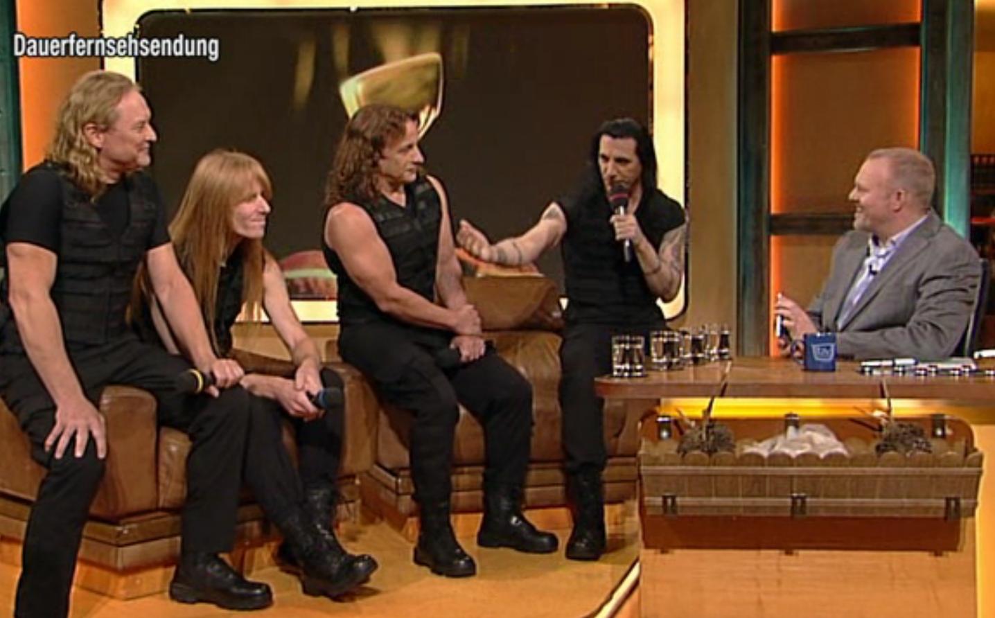 Manowar mit Stefan Raab bei TV Total