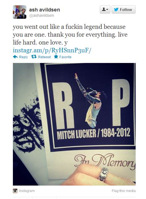 Sumerian-Gründer Ash Avildsen nimmt Abschied. Klickt euch hier durch weitere Reaktionen auf Mitch Luckers Tod.
