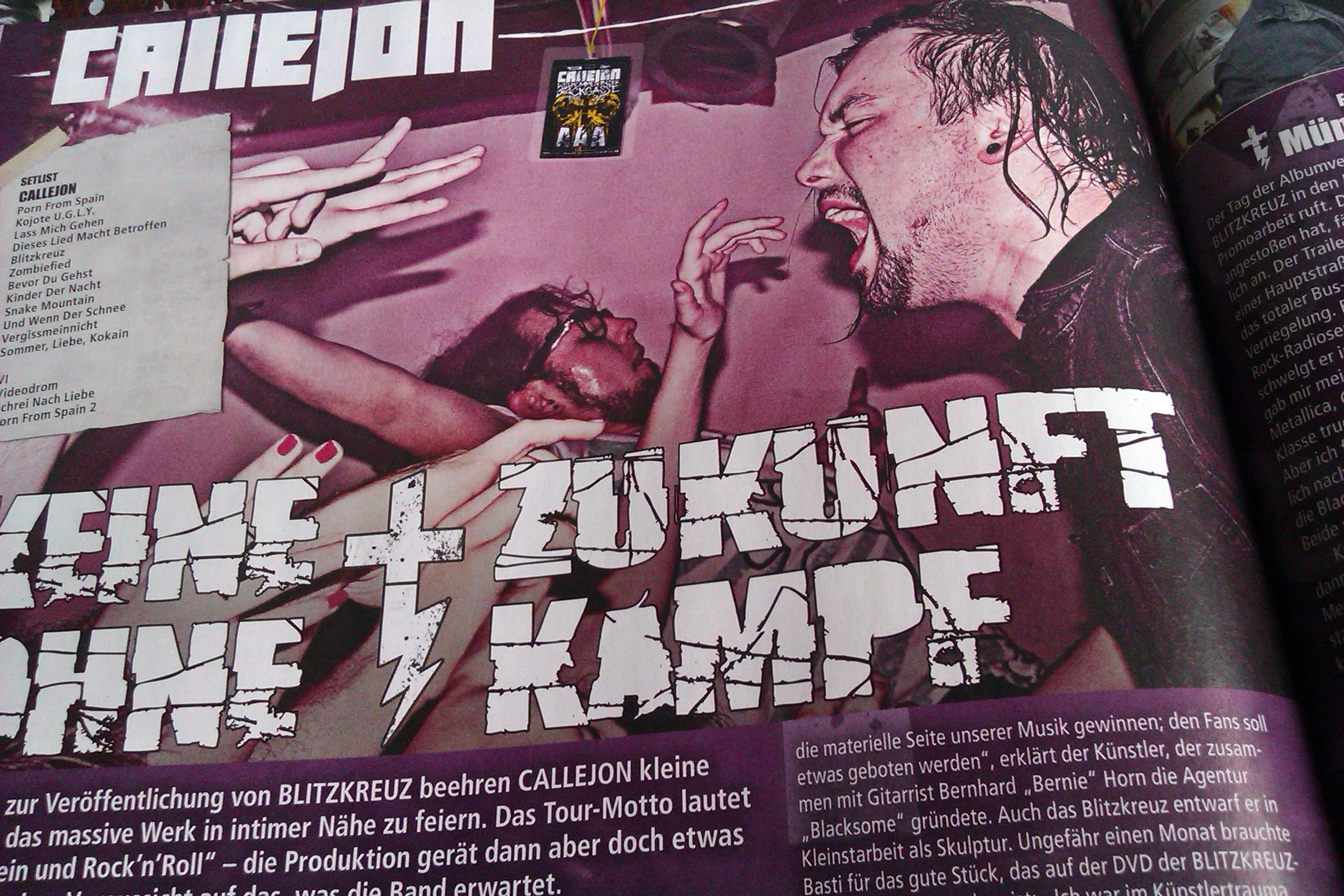 Callejon in METAL HAMMER-Ausgabe 08/2012