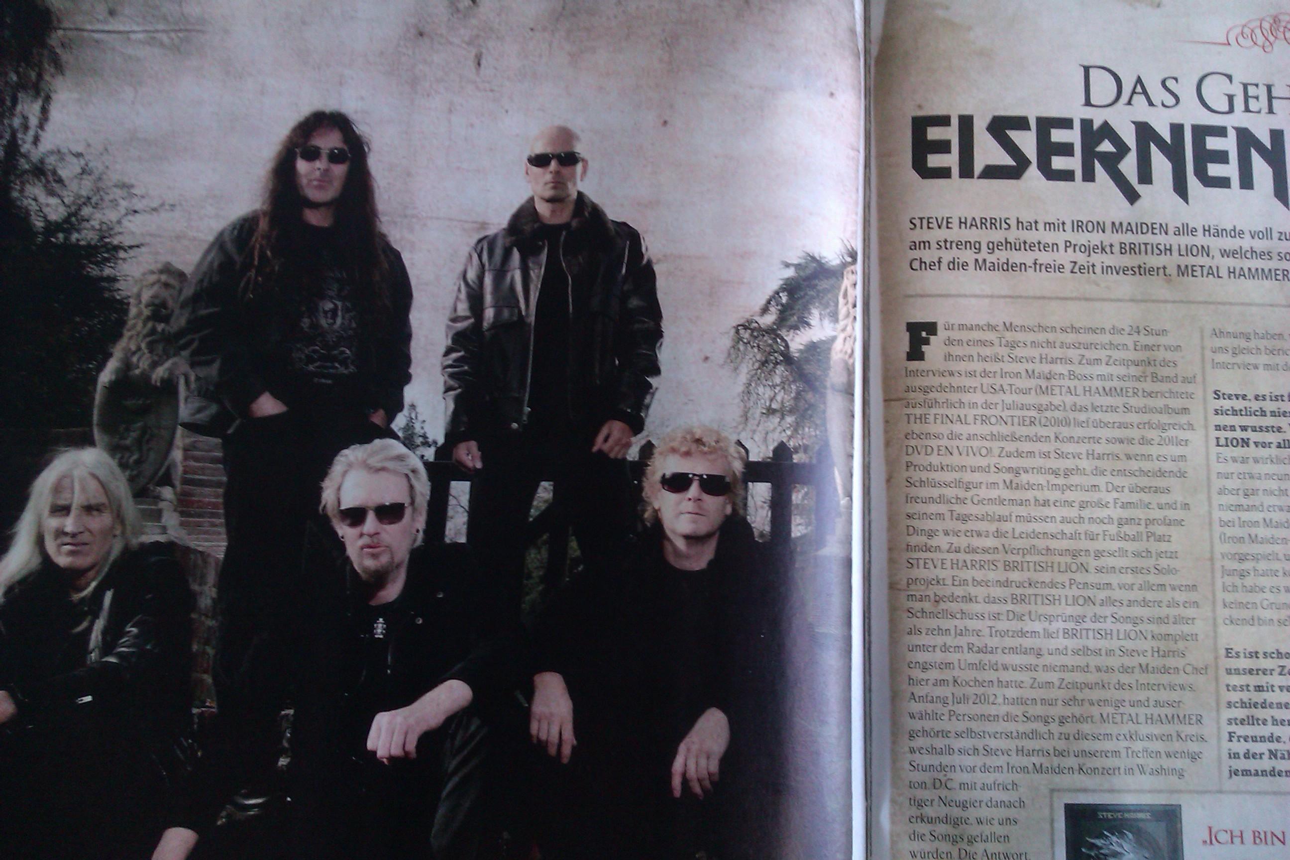 Steve Harris in METAL HAMMER-Ausgabe 10/2012