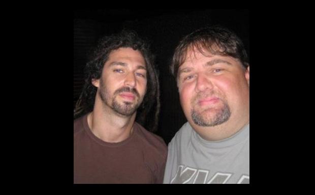 Pat Egan (rechts) mit Brian Fair (Shadows Fall)
