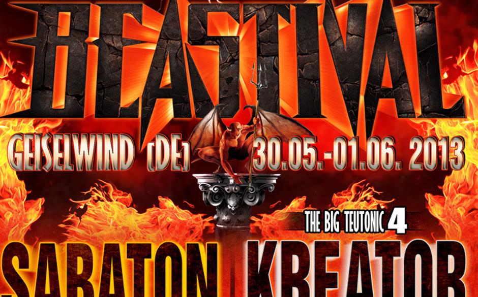 Beastival 2013 mit Sabaton und den Big Teutonic Four