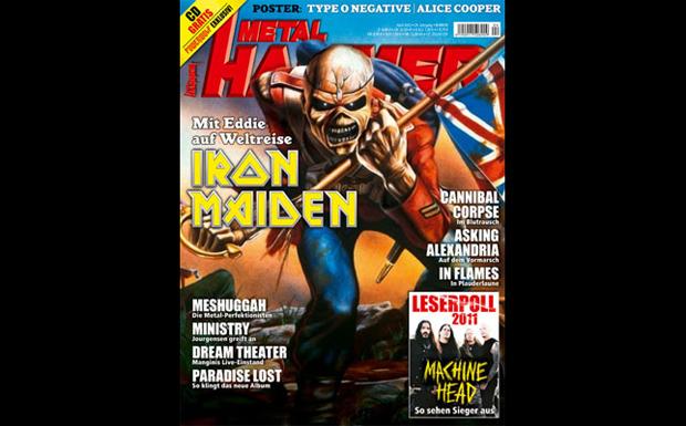 Iron Maiden: Eddie auf dem Titel von METAL HAMMER 04/2012