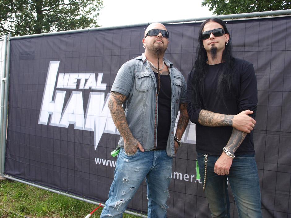 Dimmu Borgir backstage auf dem Wacken Open Air 2012