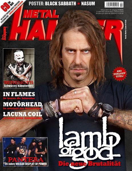 METAL HAMMER Titelbild Abo 02/2012