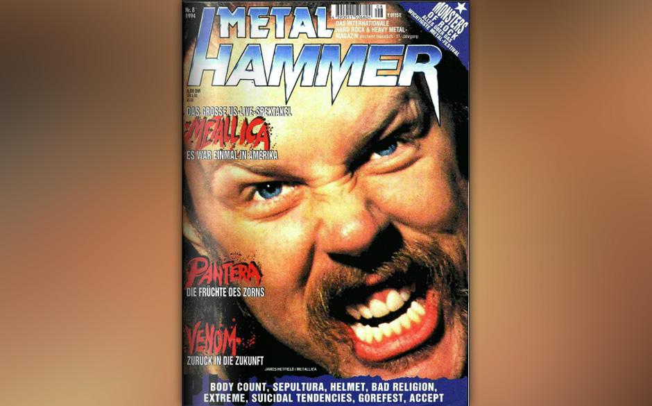 James Hetfield auf dem METAL HAMMER-Cover