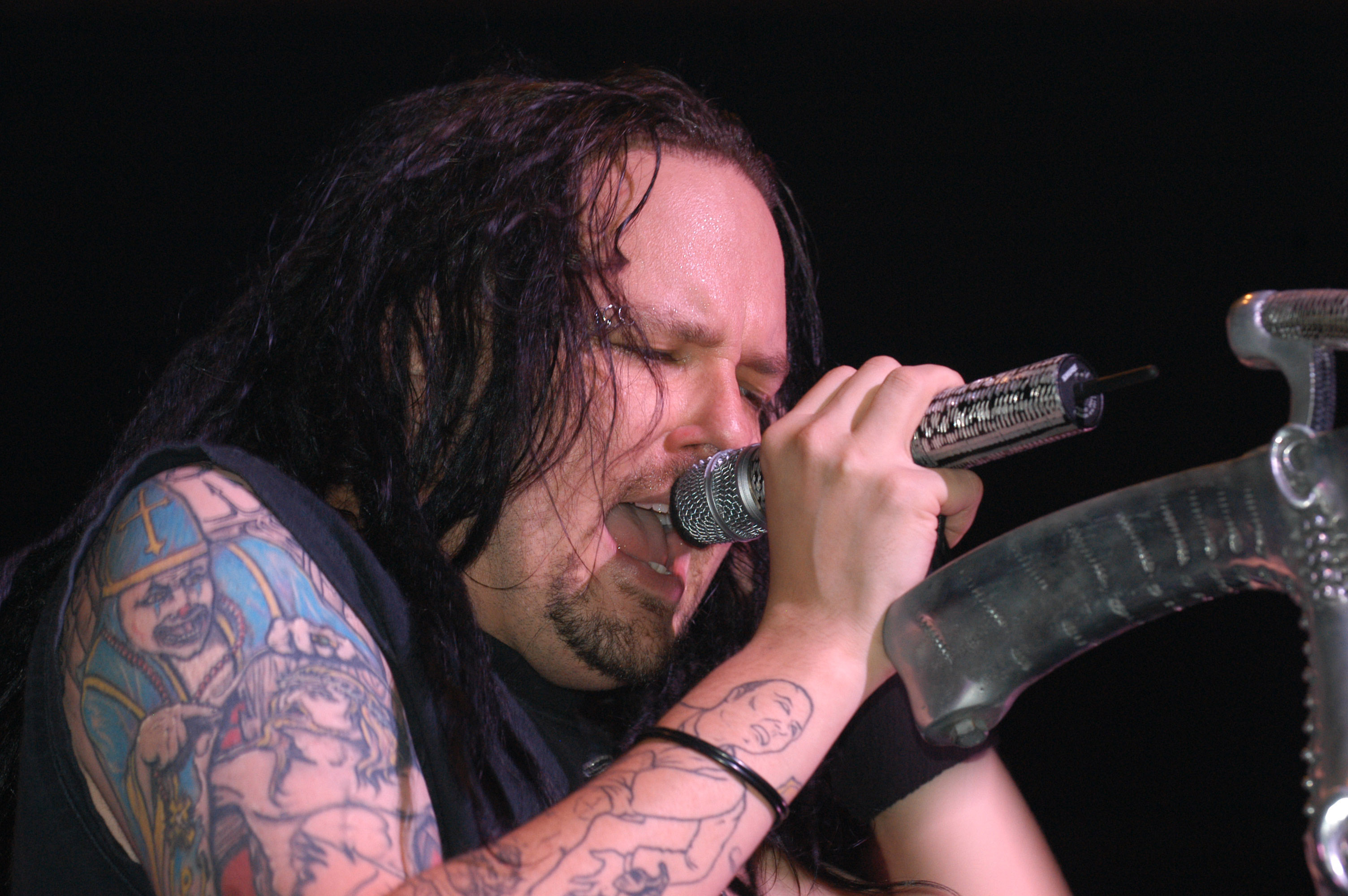Jonathan Davis of Korn during Korn Live In Concert at Hammerstein Ballroom in New York City, New York, United States. (Photo