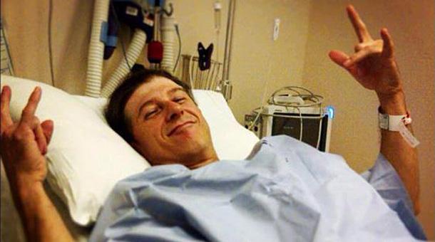 Tommy Buckley im Krankenhaus