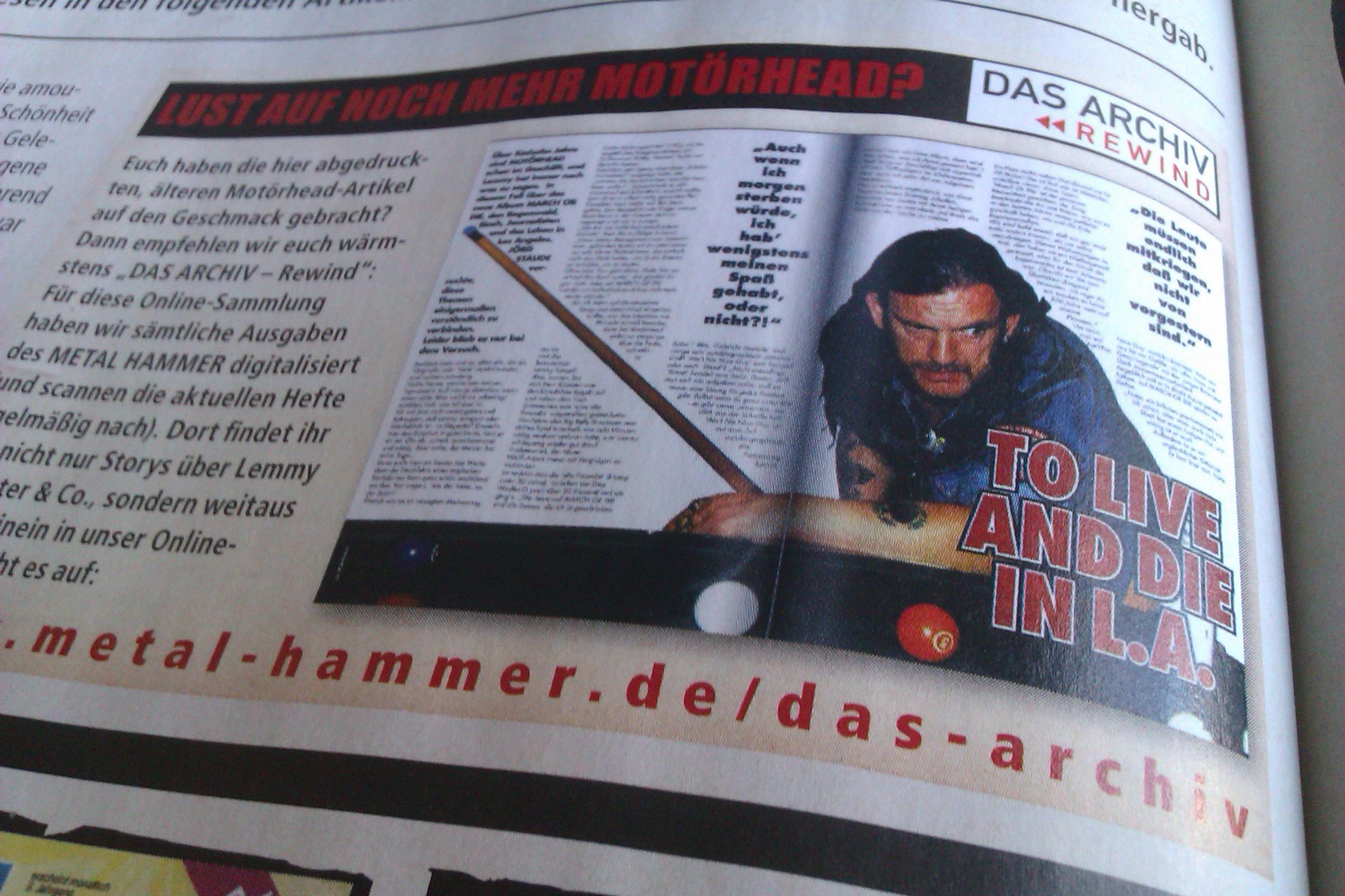 METAL HAMMER Legenden Sonderheft: Motörhead