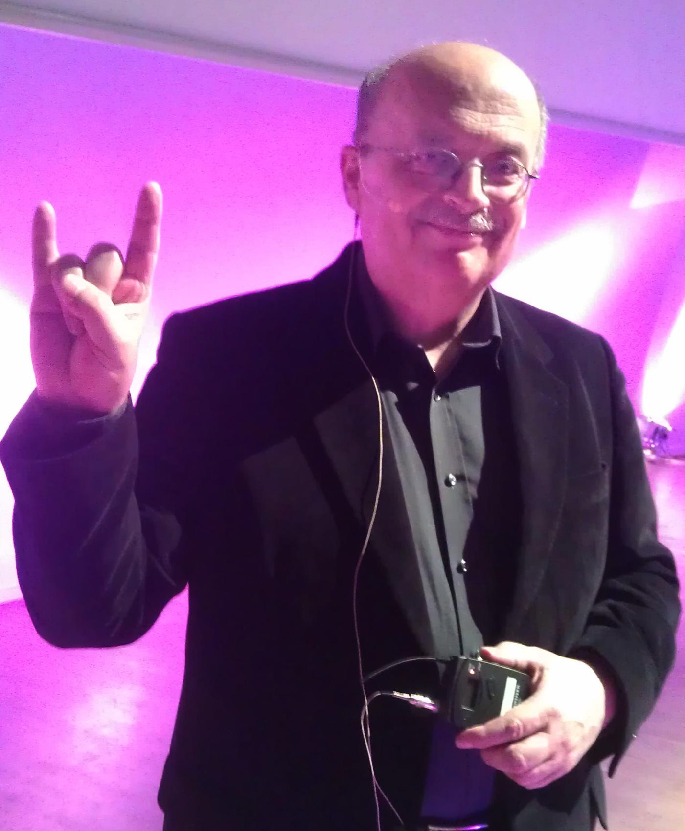 Der Metal-Prof: Joachim Kraus wurde mit seinem Vortrag über das Wacken Open Air zum 'Prof Of The Night'