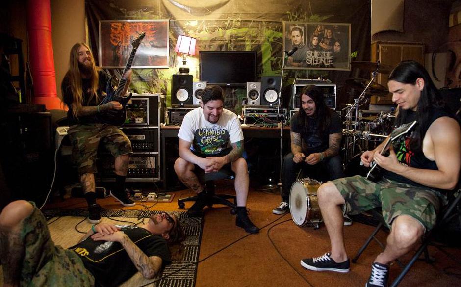 Suicide Silence im Studio