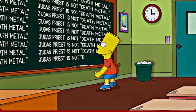 'Judas Priest Is Not Death Metal' - The Simpsons