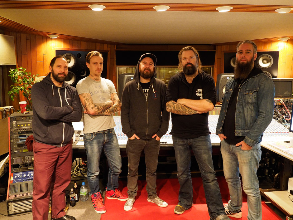 In Flames im Hansa Studio Berlin, 2014