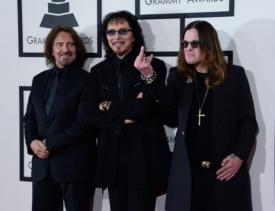 Image #: 26812900    Black Sabbath arrives at the 56th annual Grammy Awards at Staples Center in Los Angeles on January 26, 2