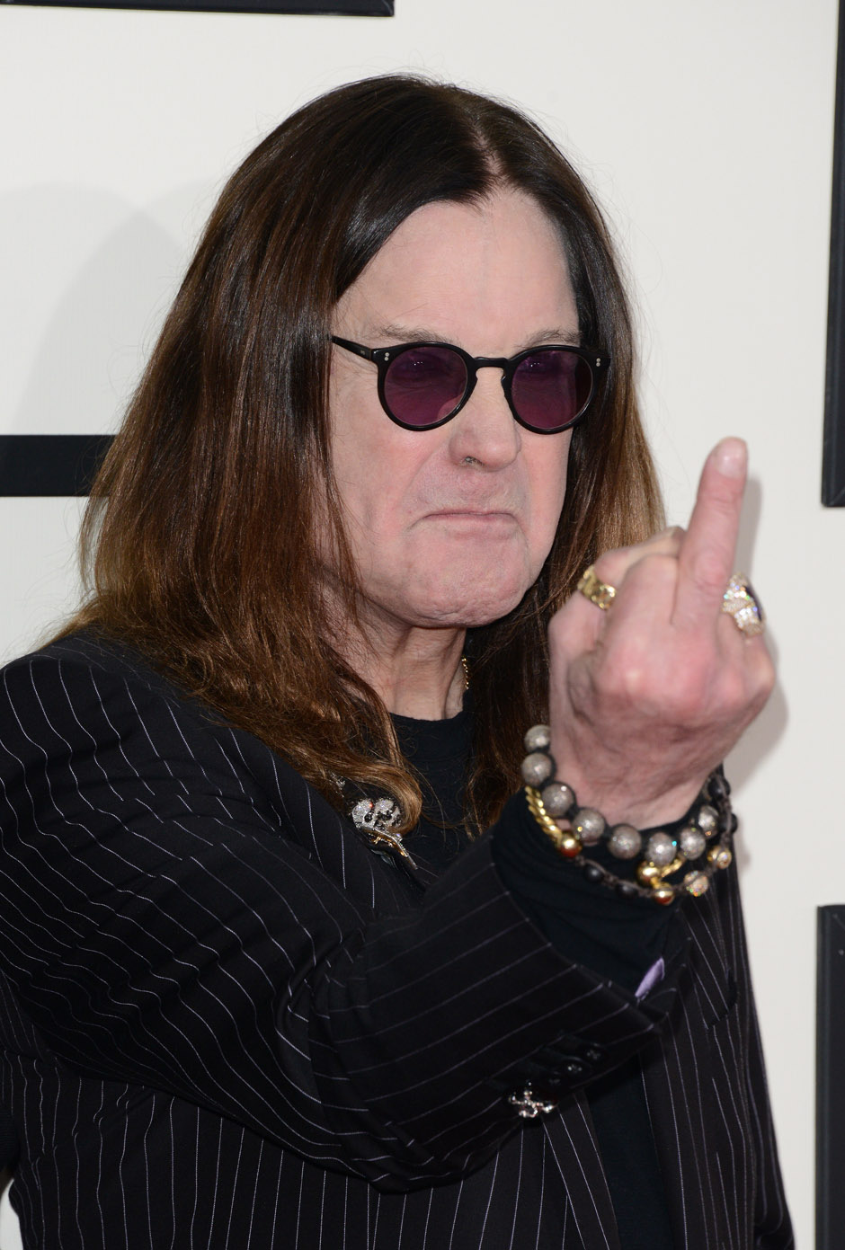 Ozzy Osbourne of Black Sabbath attends the 56th GRAMMY Awards at Staples Center on January 26, 2014 in Los Angeles, Californi