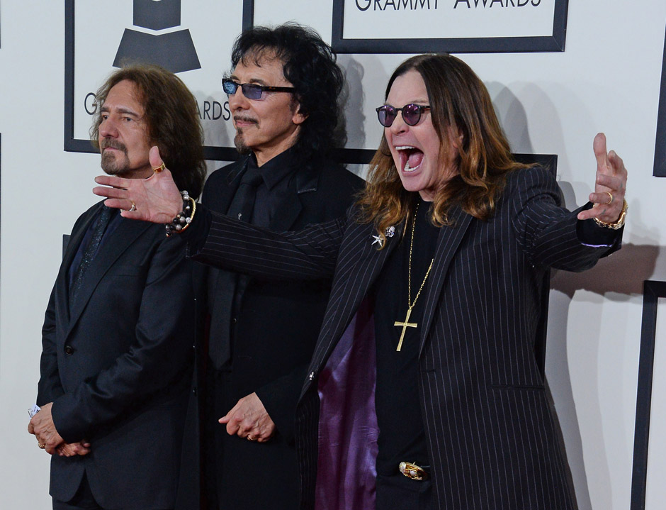 Image #: 26812870    Black Sabbath arrives at the 56th annual Grammy Awards at Staples Center in Los Angeles on January 26, 2