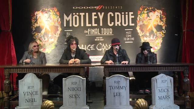 Mötley Crüe-Pressekonferenz