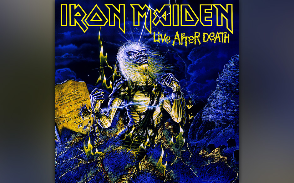 """95. Iron Maiden: 'Live After Death' (1985) """"Scream for me, Long Beach! Scream for me, Long Beach ..."""" Unerreichte, vor Sp"""
