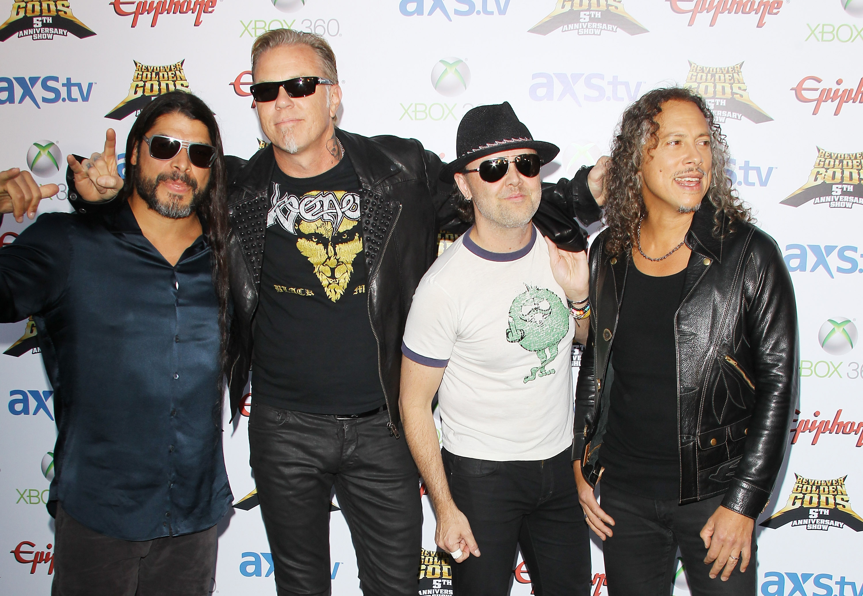 LOS ANGELES, CA - MAY 02:  Metallica arrive at the 5th Annual Revolver Golden Gods Award Show held at Club Nokia on May 2, 20