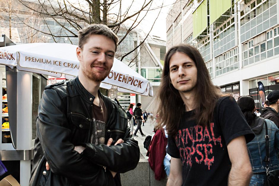 Musikmesse Frankfurt 2014 Chris Münzner und Hannes Grossmann (Obscura)