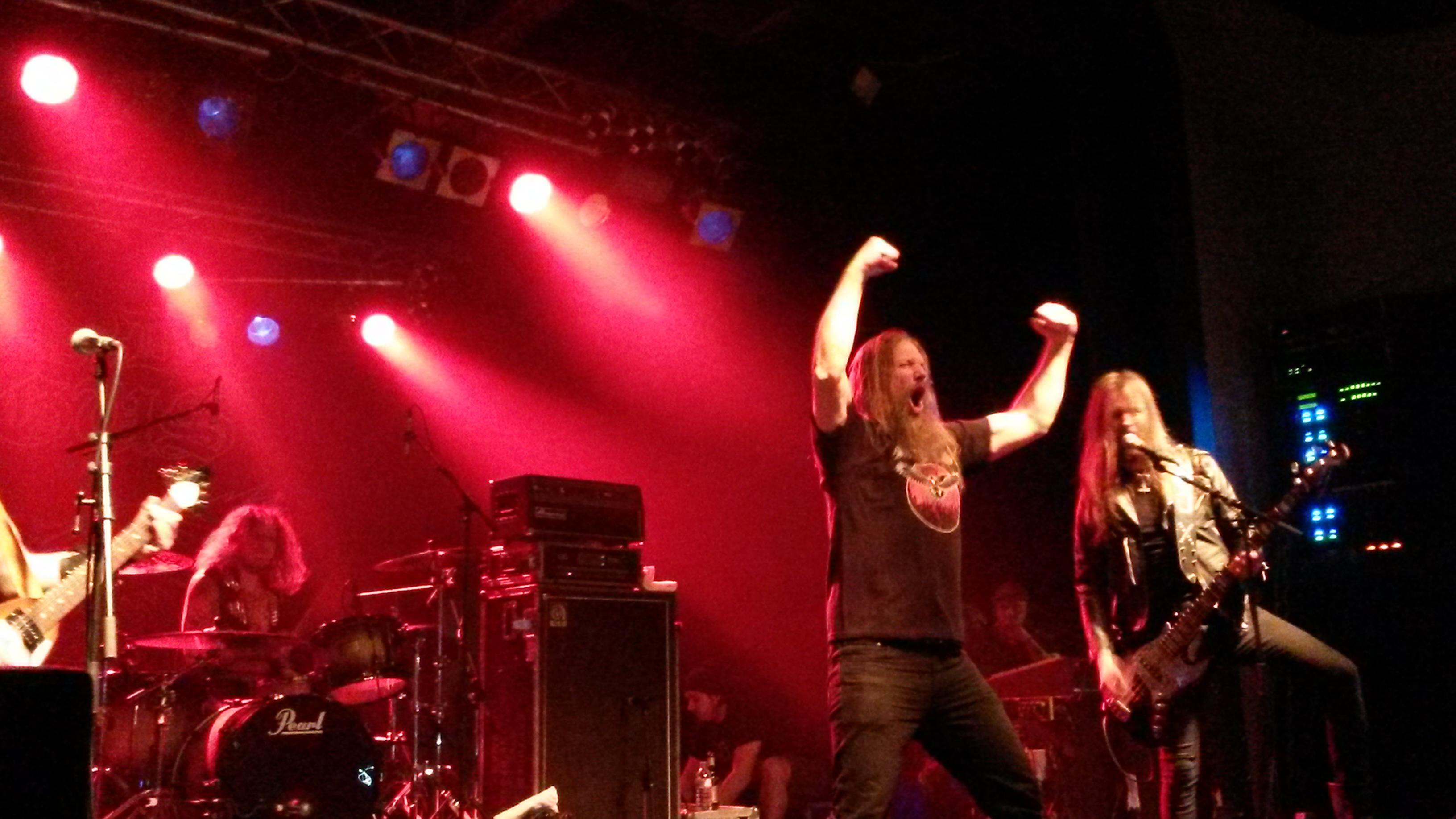 Grand Magus mit Johan Hegg (Amon Amarth) live, 24.03.2014, Berlin