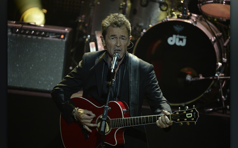 German musician Peter Maffay performs during the 2014 Echo Music Awards in Berlin, on Thursday, March 27, 2014. The German mu