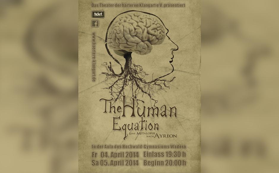 Theater-Plakat THE HUMAN EQUATION