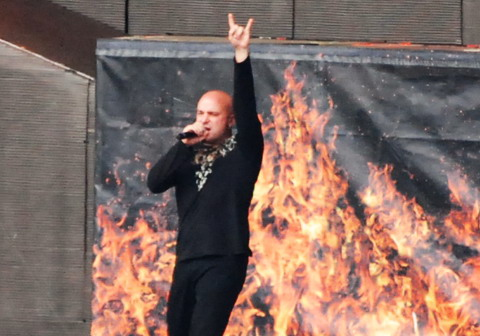 Disturbed live bei Rock am Ring 2008