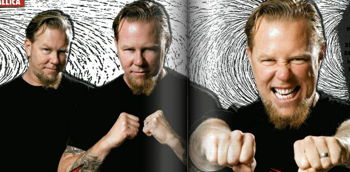 Heutzutage bevorzugt James Hetfield die nach hinten gegeelte Variante mit Bart.