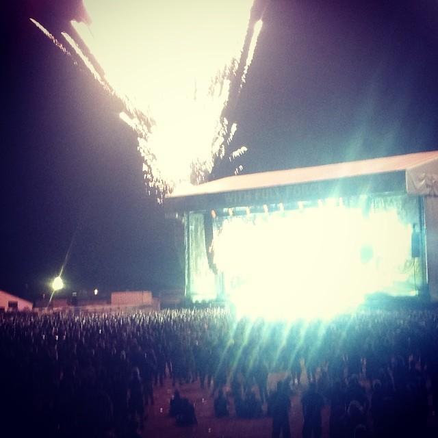 Feuerwerk bei Volbeat