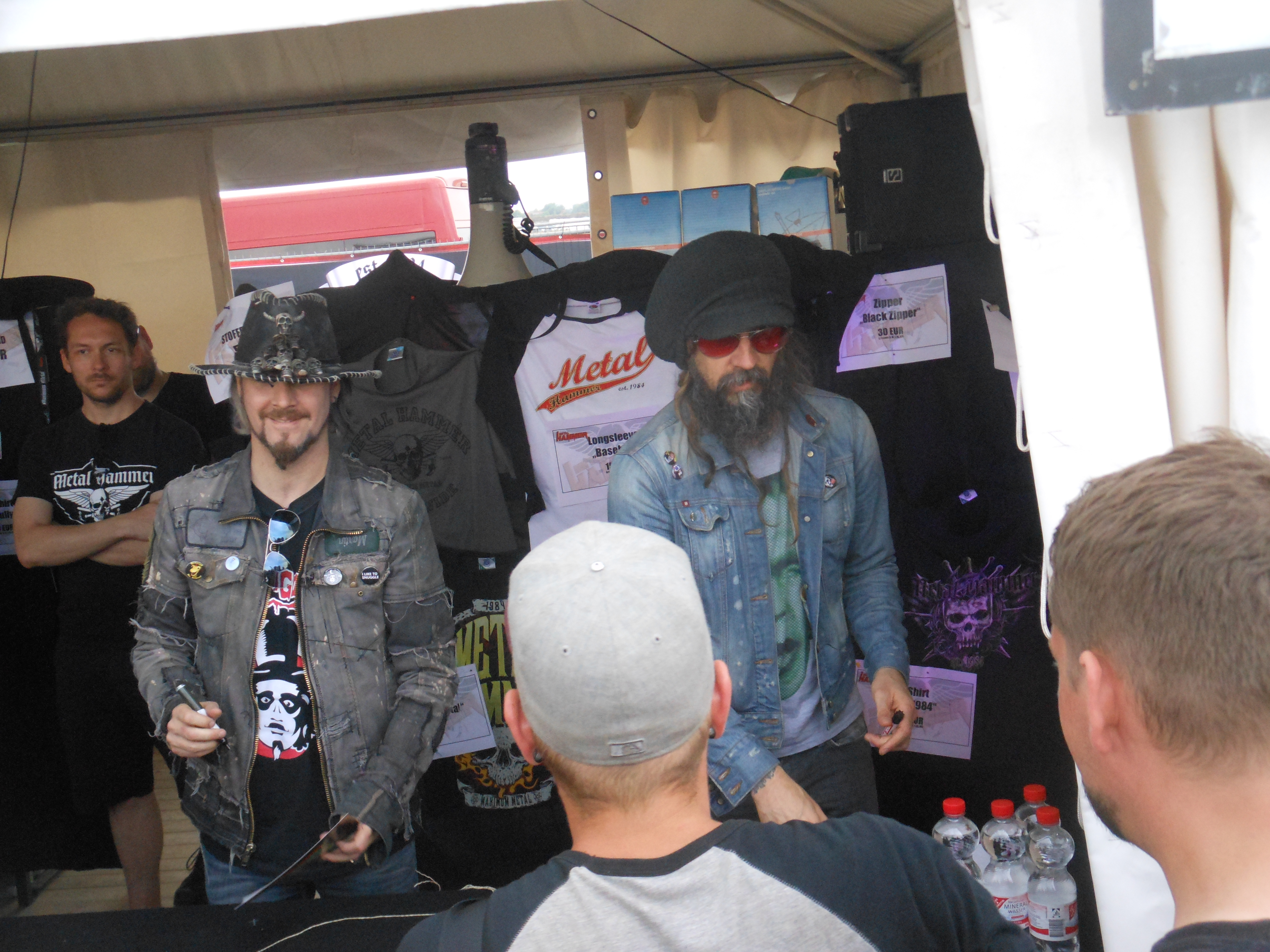 Rob Zombie Autogrammstunde, With Full Force 2014