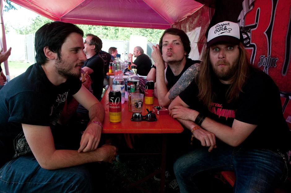 Die METAL HAMMER-Redaktion am Wacken Open Air 2014