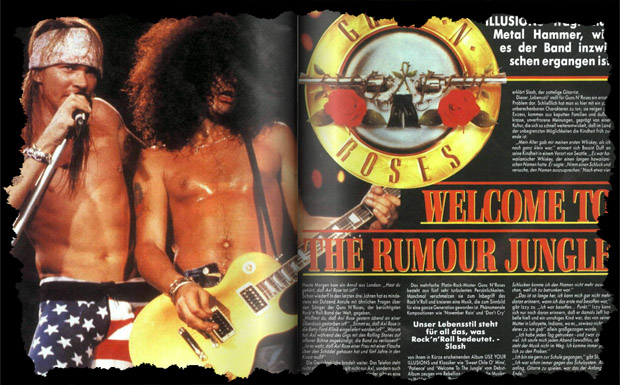 Guns N' Roses in METAL HAMMER 05/1991