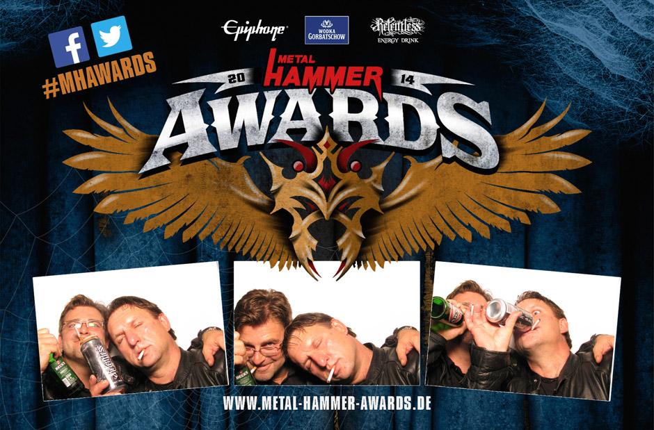 Metalheads zeigen Gesicht: Die Fotobox der METAL HAMMER AWARDS 2014